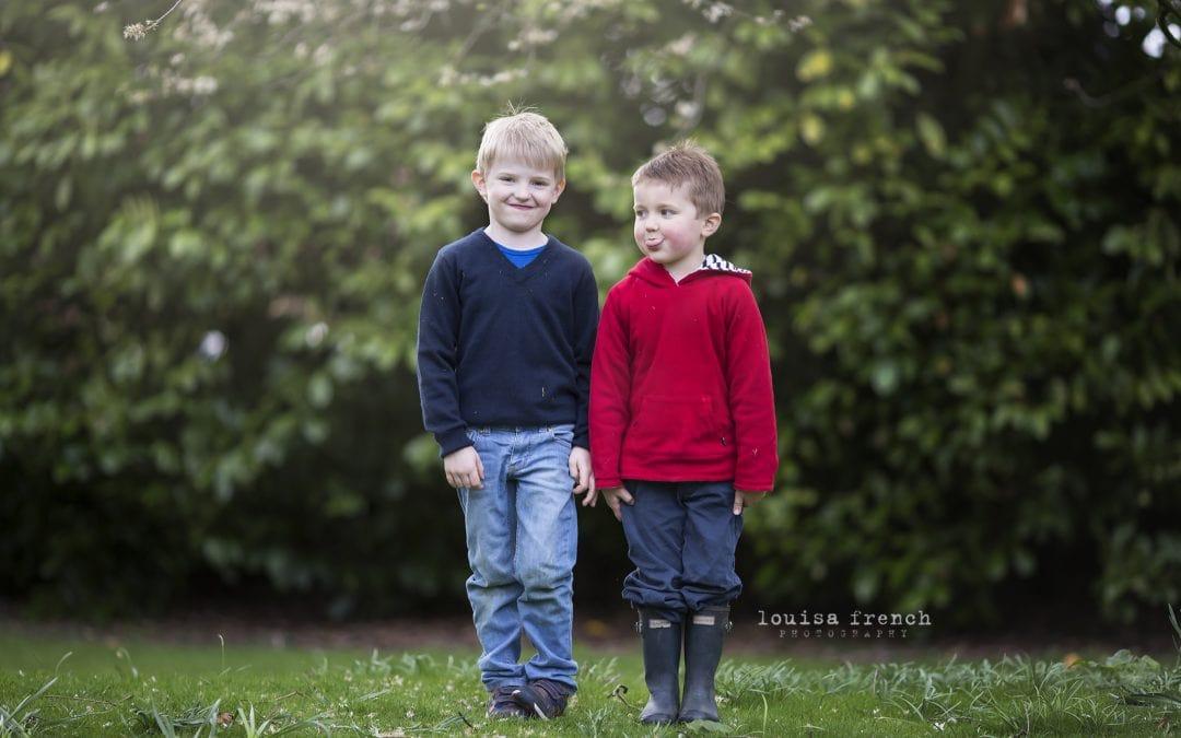Boys will be boys! Family photography in Cambridge