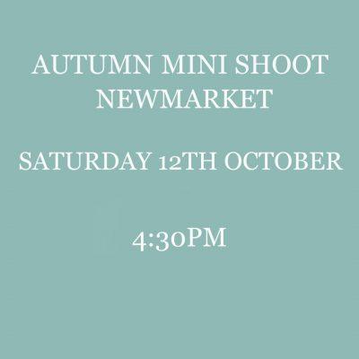 autumn mini shoot newmarket