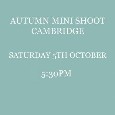 autumn mini shoot cambridge