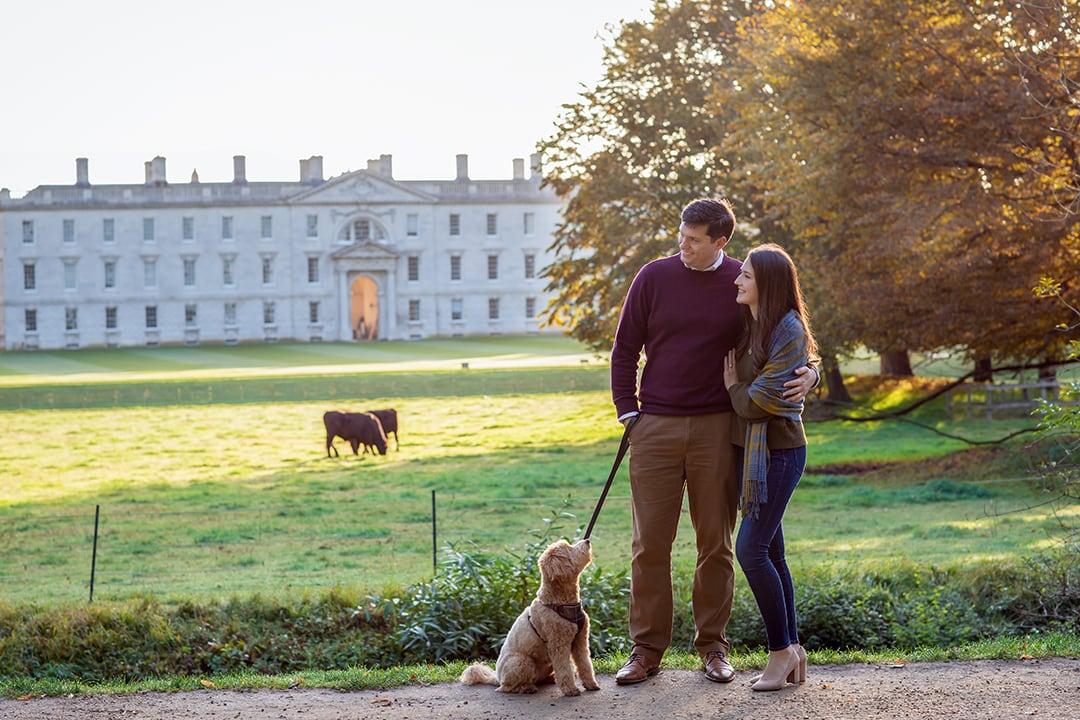 Cambridge couple with dog