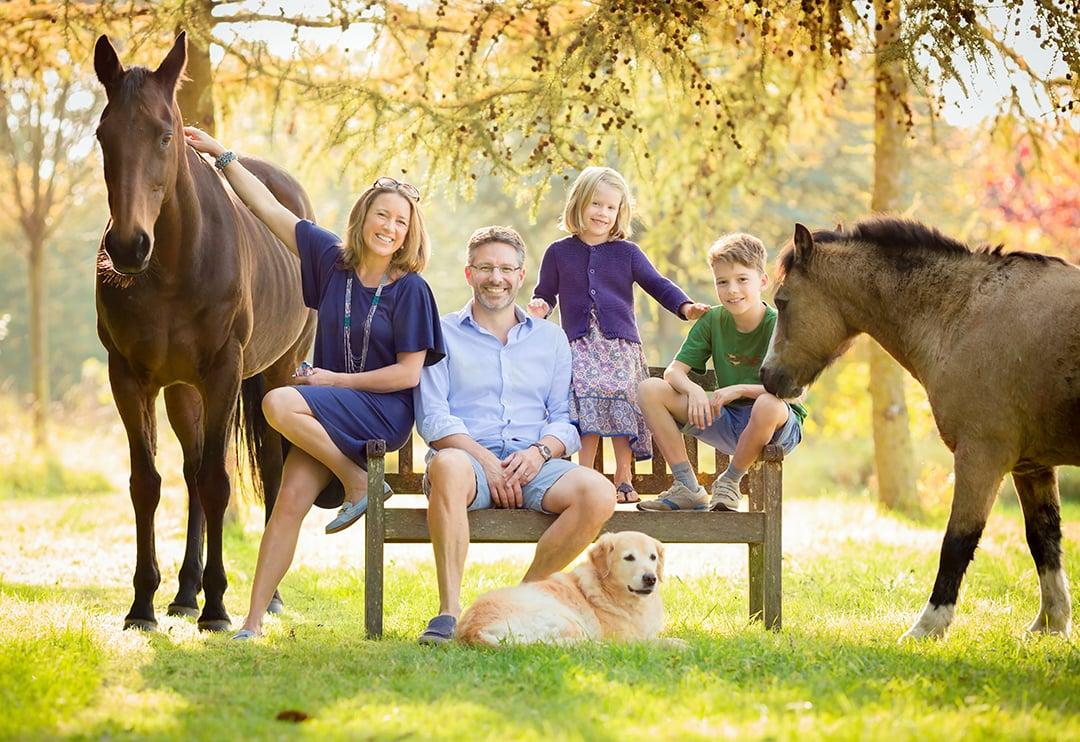 family with their animals