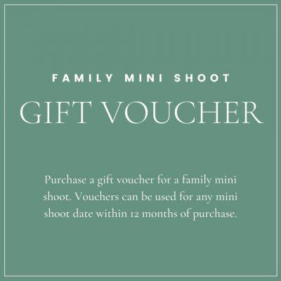 family mini shoot gift voucher