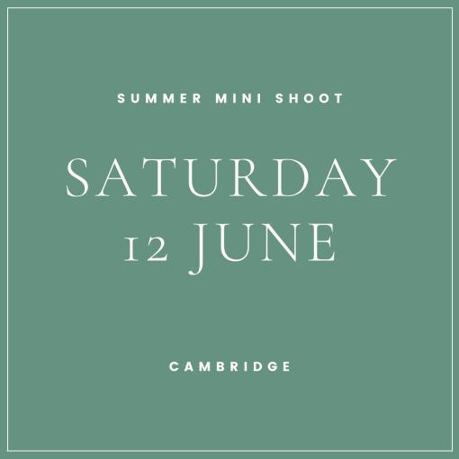 summer mini shoot cambridge