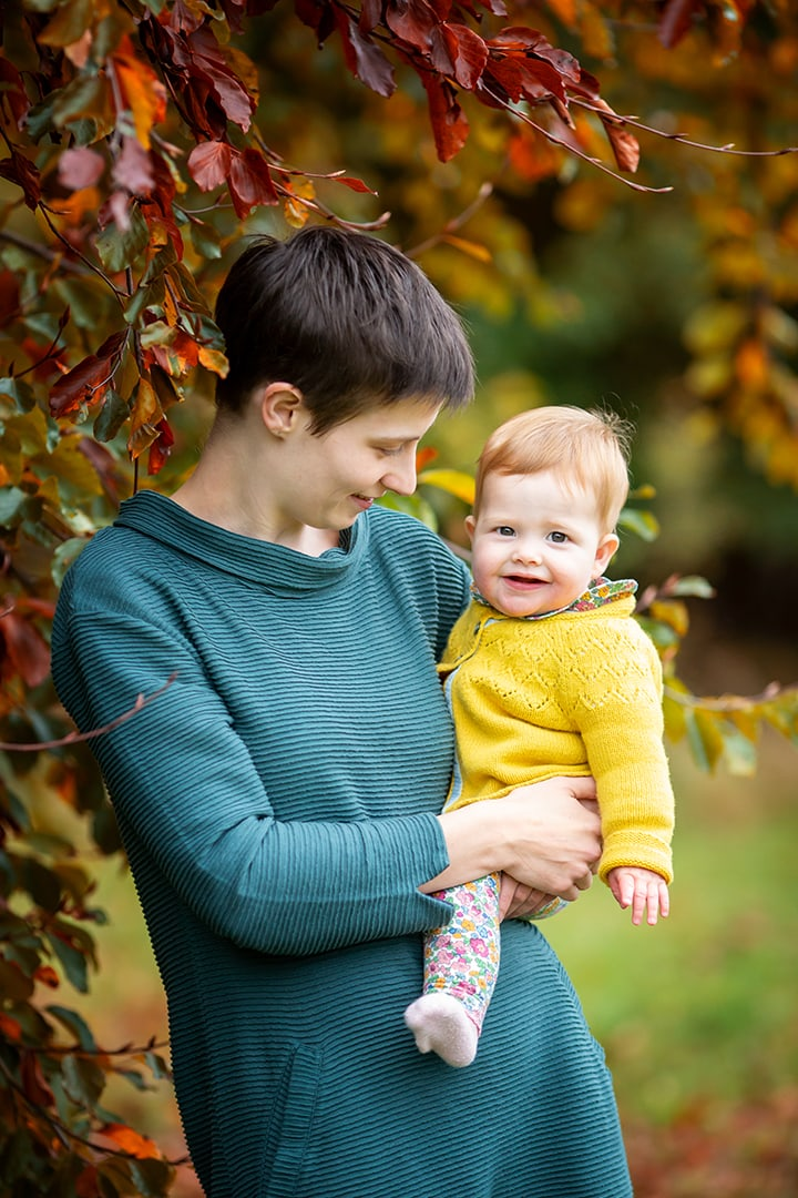 mother and baby on a family photoshoot in cambridge
