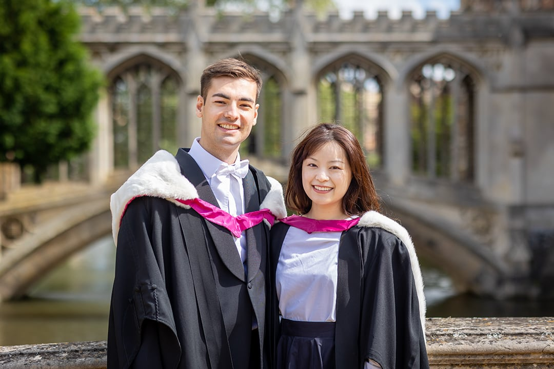 Cambridge students at the Bridge of Sighs