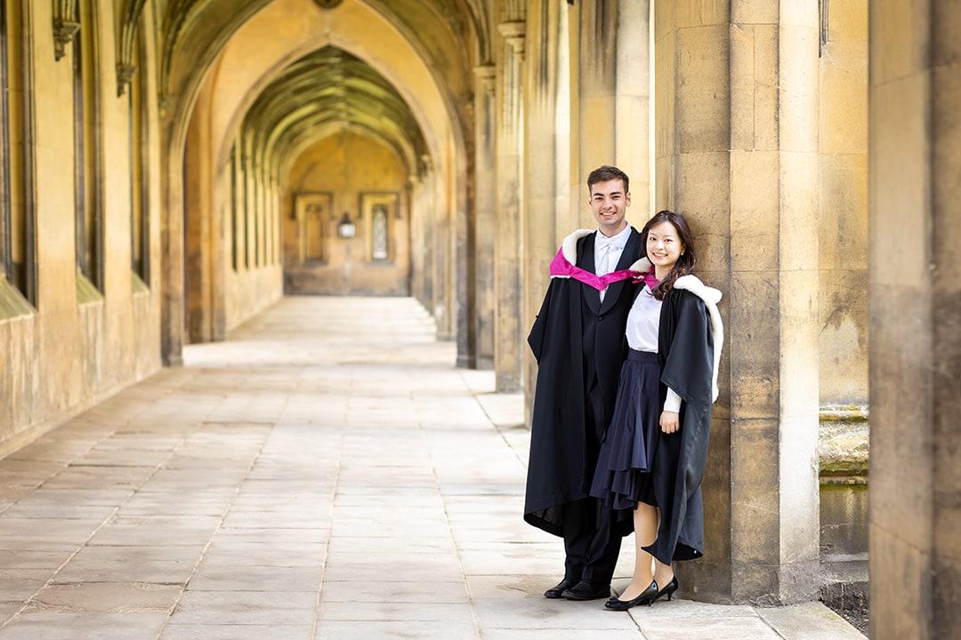Graduation photoshoot at St John College Cambridge