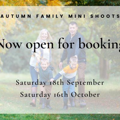 Autumn family mini shoots